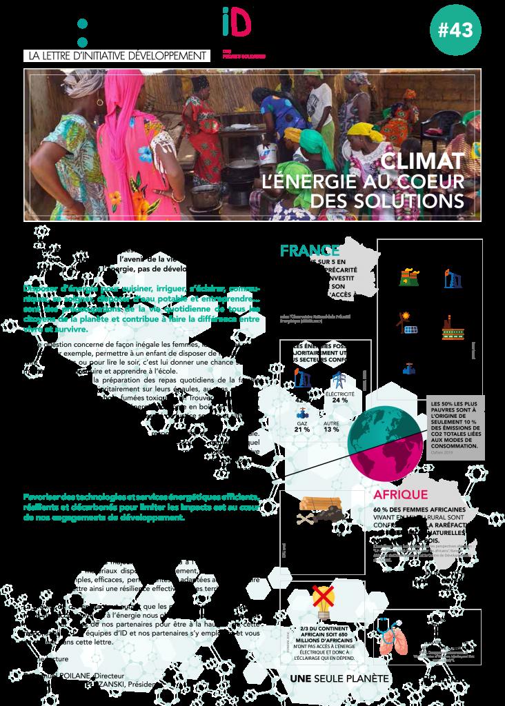 lisez les initiaticves d'ID en faveur de l'humain et du climat
