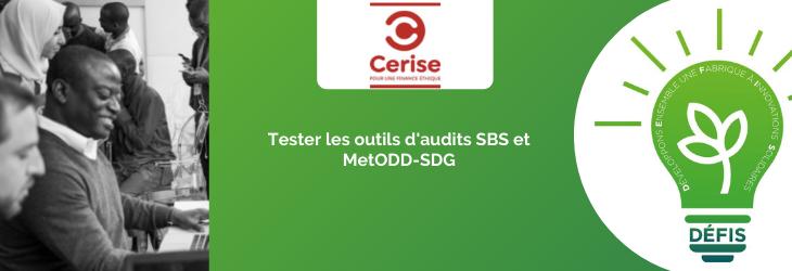 Tester les outils d'audits SBS et MetODD-SDG