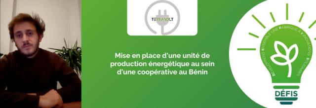 Mise en place d'une unité de production énergétique au sein d'une coopérative au Bénin